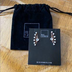 Rue Gembon Pearl Crystal Earrings